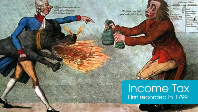 Income Tax started in 1799
